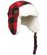 Kombi The Hip Aviator Hat Infant Red Buffalo Plaid