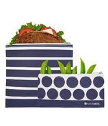 Lunchskins Reusable Zip Bag Set Stripe Dot
