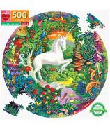 eeBoo Unicorn Garden Round Puzzle