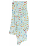 Loulou Lollipop Muslin Swaddle Breakfast Blue