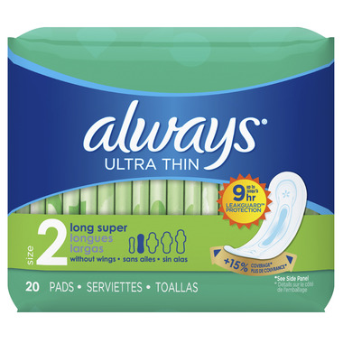 Always Ultra Thin without Wings Unscented