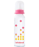 Lollaland Glass Baby Bottle Large Pink