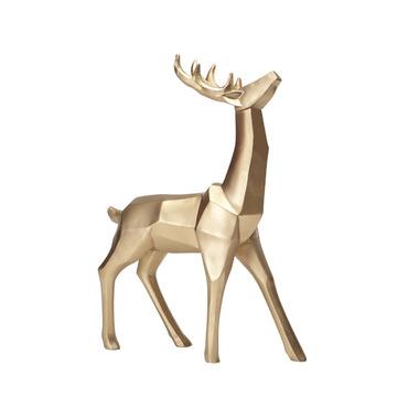 Harman Geometric Standing Reindeer Gold Small