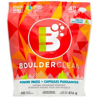 Boulder Clean Natural Dishwasher Detergent Power Packs Citrus Zest