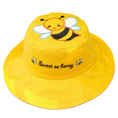Flapjack Kids Reversible Sun Hat Bee & Ladybug