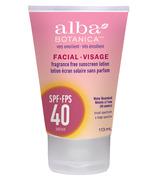 Écran solaire très émollient pour le visage FPS 40 par Alba Botanica