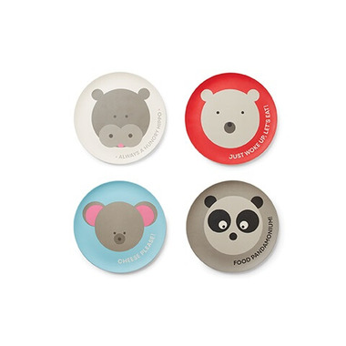 Red Rover Bamboo Fibre Plates with Animals
