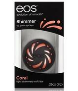 eos Shimmer Lip Balm Coral