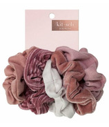 kitsch Velvet Scrunchies Blush Or Mauve