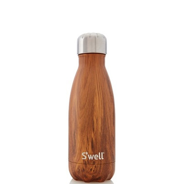 S\'well Wood Collection Stainless Steel Water Bottle Teakwood