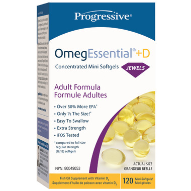 Progressive OmegEssential Jewels + Vitamin D