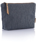 bambu Organic Cotton Stripe Zip Pouch Small