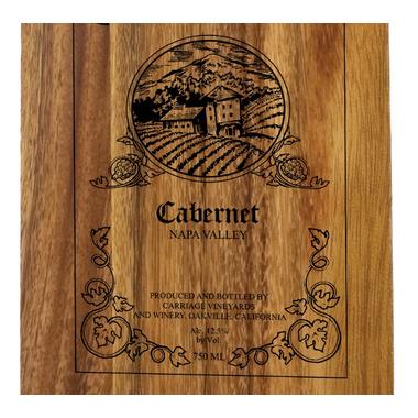 Ironwood Gourmet Acacia Wood Wine Bottle Board Carbernet