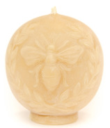 Bees Wax Works Vintage Bee Print Beeswax Candle