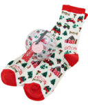 Little Blue House Women's Socks in Ornament Country Christmas
