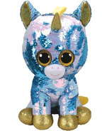 Ty Flippables Dazzle the Sequin Blue Unicorn Large