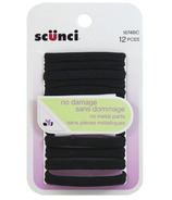 Scunci Black No Damage Hair Elastics