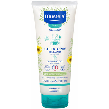 Mustela Stelatopia Fragrance Free Cleansing Gel