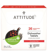 ATTITUDE Dishwasher Detergent Eco Pouches