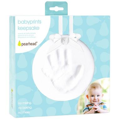 Pearhead Babyprints Keepsake Ornament White