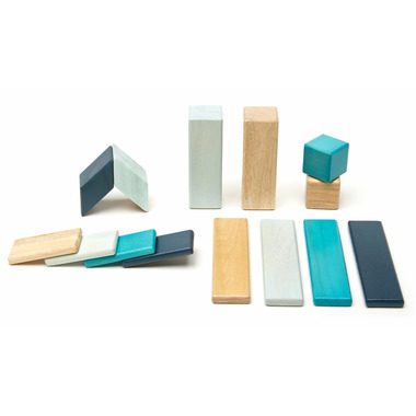Tegu Magnetic Wooden Block Set Blues