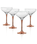Artland Coppertino Cocktail Coupe Glasses