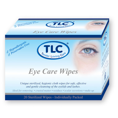 TLC Tender Loving Care Eye Care Wipes Adults