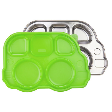Innobaby Din Smart Stainless Platter with Green Lid