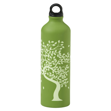Gaiam Tree Of Life Screw Top Aluminum Water Bottle