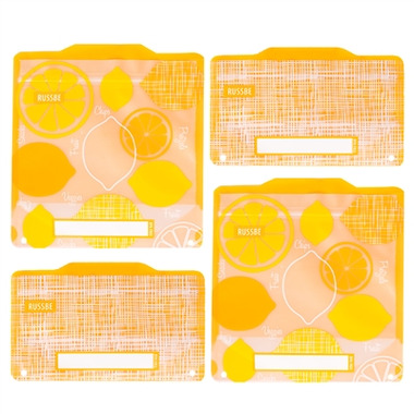 Russbe Reusable Snack and Sandwich Bags Lemon Linen