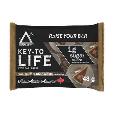 Key-To Life Keto Bar Vanilla Chai Cheesecake
