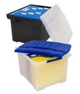 Storex Stackable File Tote