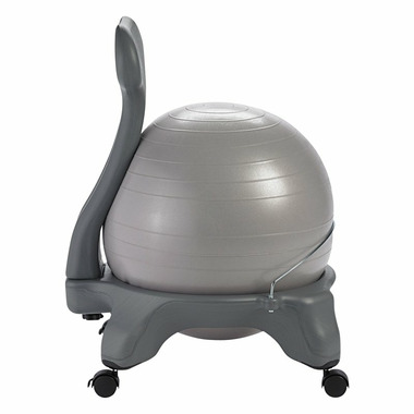 Gaiam Classic Balance Ball Chair Cool Grey Ball