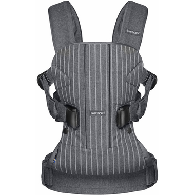 BabyBjorn Baby Carrier One Pinstripe & Gray