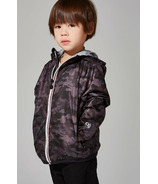 O8 Lifestyle Kid's Full Zip Packable Jacket Black Camo