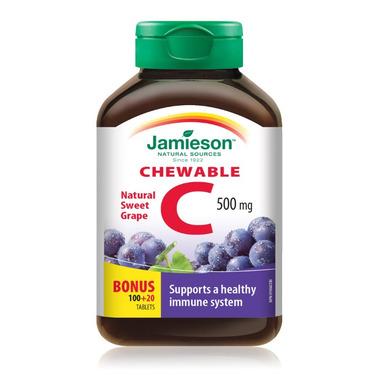 Jamieson Vitamin C Chewable Bonus Pack