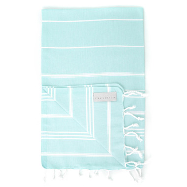 Stray & Wander Marin Turkish Hand Towel Turquoise