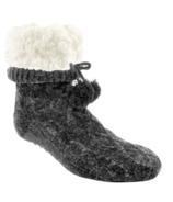 Pudus Chenille Slipper Sock Grey