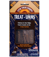 Lick Your Chops Treat-Umms Chicken & Liver Strips Dog Treats