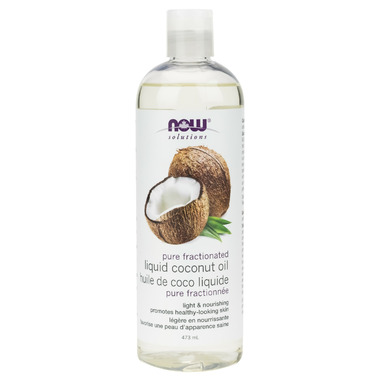 NOW Solutions Fractionated Liquid Coconut Oil