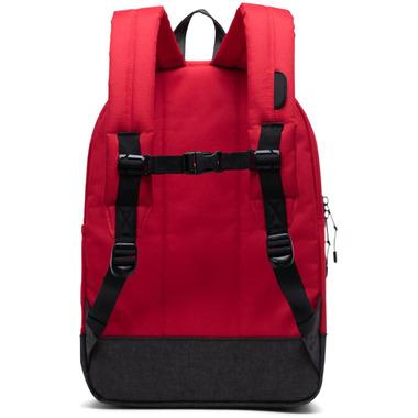 Herschel Supply Heritage Youth XL Red, Raven Crosshatch & Black Crosshatch