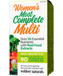 Webber Naturals Women's Most Complete Multi
