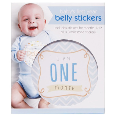 C.R. Gibson First Year Belly Stickers Boy