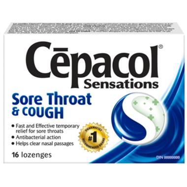 Cepacol Sensations Sore Throat & Cough Lozenges