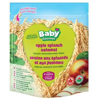 Baby Gourmet Organic Apple Spinach Oatmeal