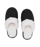 Pudus Slide Slippers Cable Knit Grey