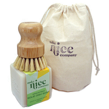 Make Nice Company Dish Soap + Scrubber Kit Unscented