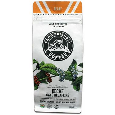 Frog Friendly Coffee Decaf Roast Whole Bean Coffee