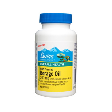Swiss Natural Sources Borage Oil Cold Pressed 500mg