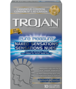 Trojan Naked Sensations Pure Pleasure Lubricated Latex Condoms